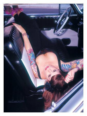 Pin-Up Girl: Front Seat Tattoo