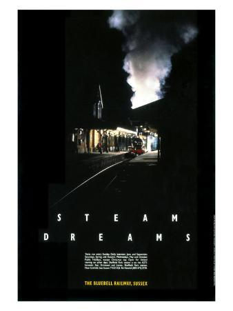 Bluebell Railway Poster Steam Dreams, 1990