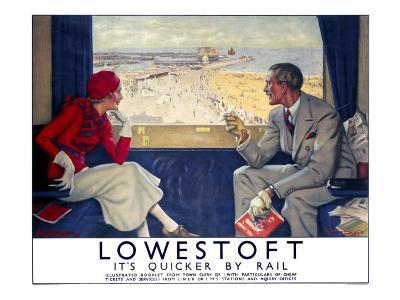 Lowestoft, LNER/LMS Poster, 1933