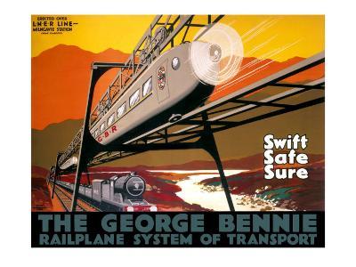 The George Bennie Railplane, LNER Poster, 1929