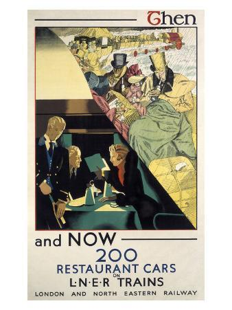 Then and Now, LNER poster, 1923-1947