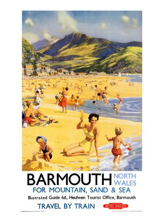 Barmouth, BR Poster, 1956