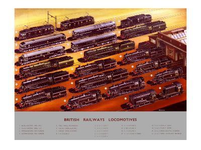 British Railways Locomotives, BR Poster, circa 1950s