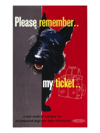 Please Remember My Ticket, BR Poster, circa 1950s