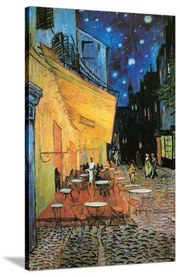 a9566dd64ae Cafe Terrace at Night (detail) Stretched Canvas Print by Vincent van Gogh  at AllPosters.com