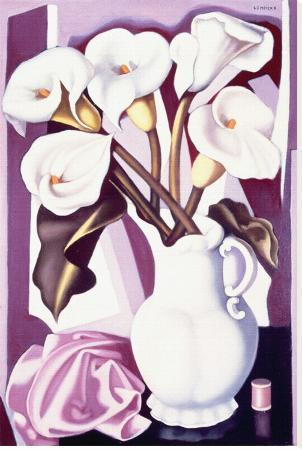 Vase with Calla Lilies