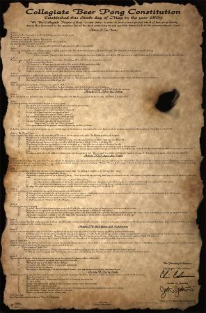 Beer Pong Constitution