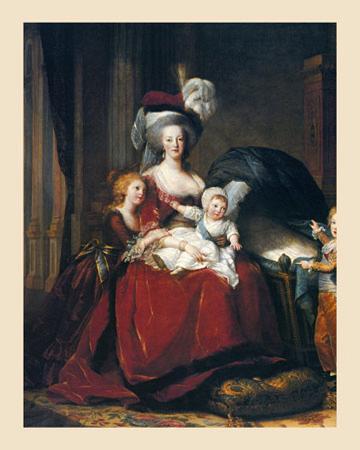 Marie-Antoinette et Ses Enfants, 1787