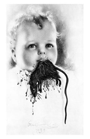 Freud's Perverse Polymorph (Bulgarian Child Eating a Rat), c.1939