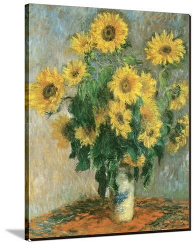 1881 Claude Monet Bouquet Of Sunflowers French Impressionist Painting Art Poster