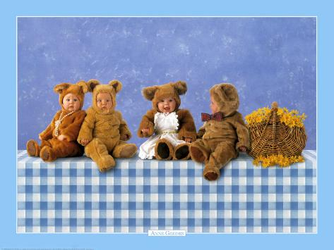 Dolls & Bears Anne Geddes Baby Brown Bear Pretty And Colorful