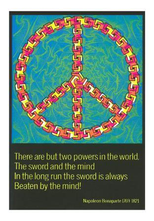 Peace Symbol and Napoleon Quote