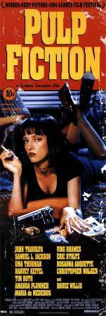 Pulp Fiction- Cover with Uma Thurman Movie Poster