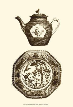 Manor Porcelain in Brown I