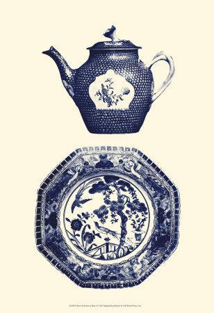 Manor Porcelain in Blue I