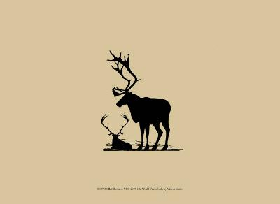 Elk Silhouette VI