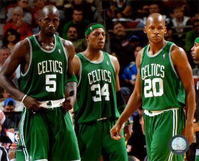 NBA Kevin Garnett , Paul Pierce, and Ray Allen