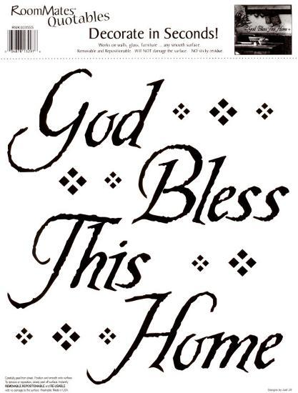 God Bless This Home Wall Decal at AllPosters.com