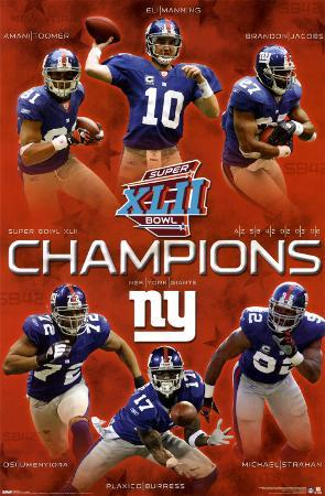 New York Giants- Super Bowl XLII Champions