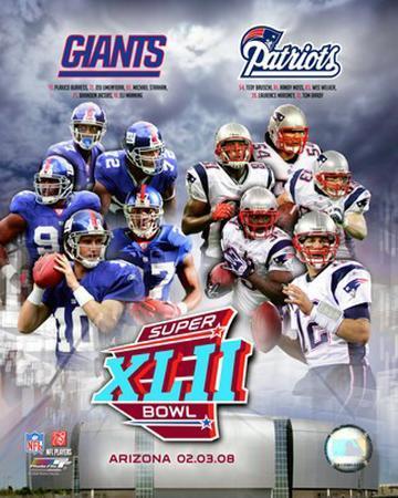 Super Bowl XLII Giants vs. Patriots