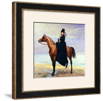 Equestrian Portrait of Mademoiselle Croizette, 1873