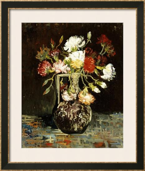 Bouquet Of Flowers Framed Giclee Print By Vincent Van Gogh At