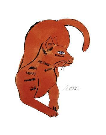 25 Cats Named Sam and One Blue Pussy by Andy Warhol, c.1954 (Red Sam)