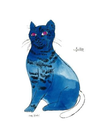25 Cats Named Sam and One Blue Pussy by Andy Warhol, c.1954 (Blue Sam)
