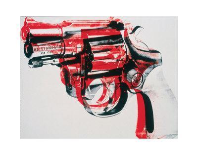 Gun, c.1981-82 (black and red on white)