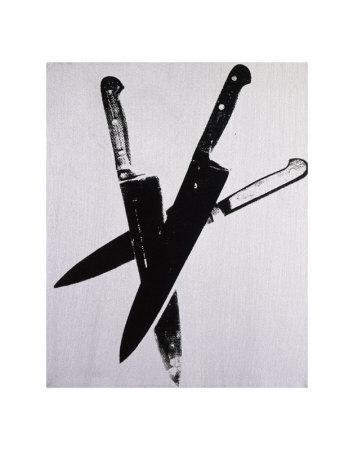Knives, c.1981-82 (three black on cream)