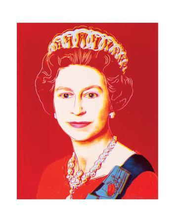 Reigning Queens: Queen Elizabeth II of the United Kingdom, c.1985 (Light Outline)