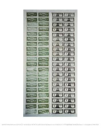 Front and Back of Dollar Bills, c.1962