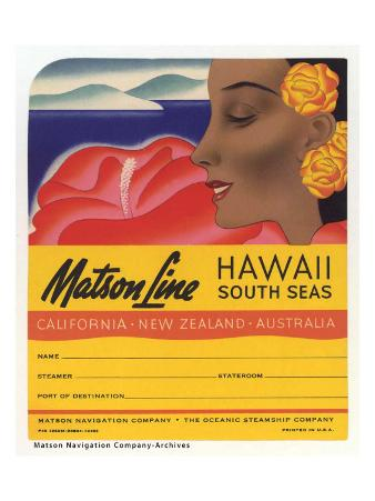 Matson Line, Hawaii and South Seas