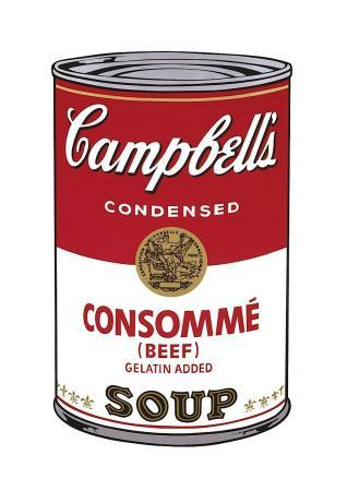Campbell's Soup I: Consomme, c.1968
