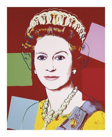 Reigning Queens: Queen Elizabeth II of the United Kingdom, c.1985 (Dark Outline)