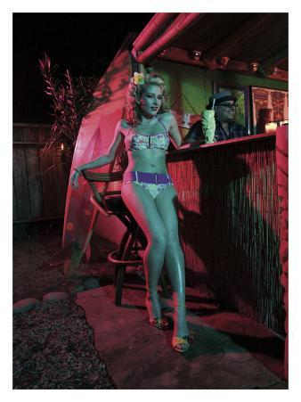 Tiki Bar Pin-Up Girl
