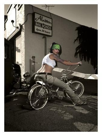 Bicycle Pin-Up Girl