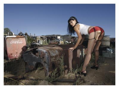Hot Rod Pin-Up Girl