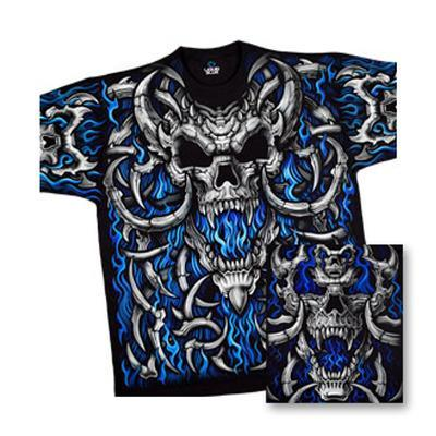 Fantasy - Blue Flame Skull