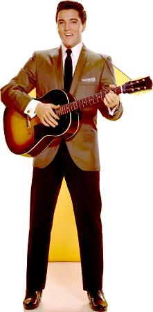 Elvis Sportscoat Guitar Lifesize Standup