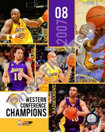 2007-08 Los Angeles Lakers NBA Western Conference Champions Composite
