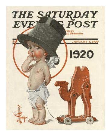 New Year's Baby, c.1920: Prohibition Camel