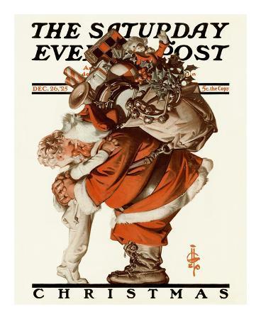 Hug from Santa, c.1925