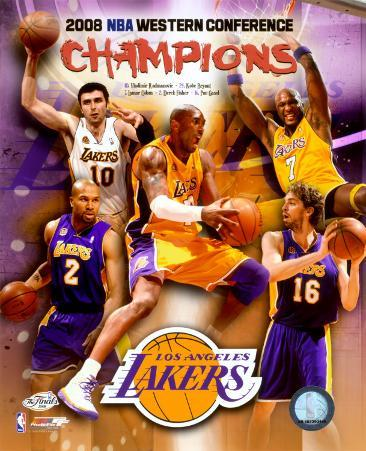 2007-08 LA Lakers Western Conference NBA Champions