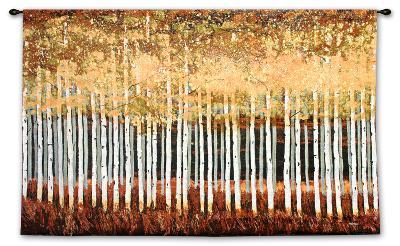 Golden Aspens Wall Tapestry