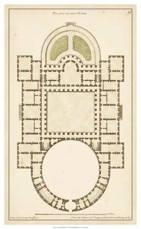 Antique Garden Plan IV