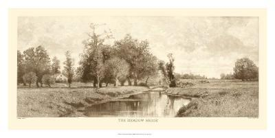 The Meadow Brook in Sepia