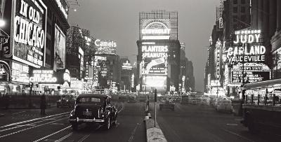Times Square at Night, New York City, c.1938