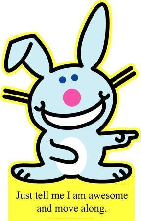 Happy Bunny - Move Along