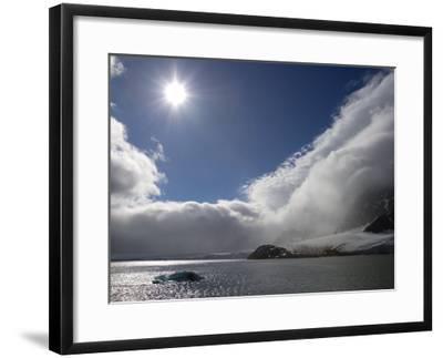 The Midnight Sun Shines on Hornsund Fjord in Svalbard